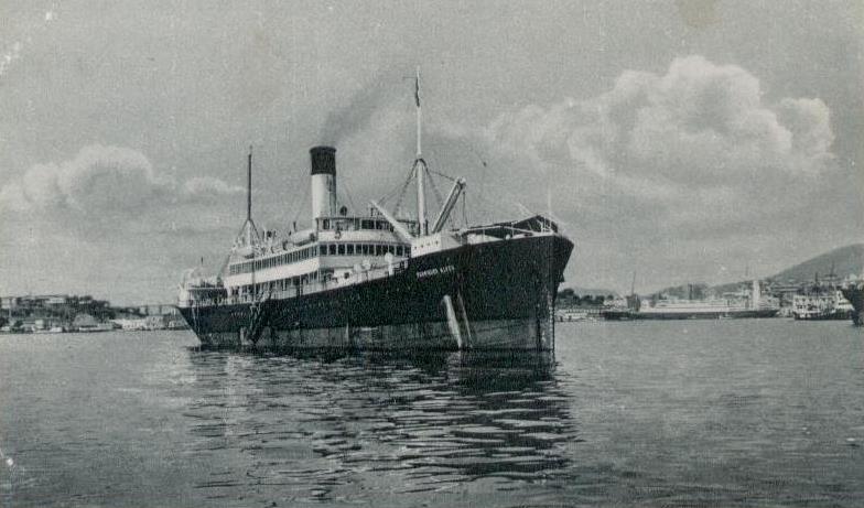 Navio Rodrigues Alves. Construído em 1907 na Escócia, vendido para sucata em 1964