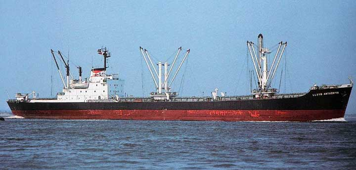 Lloyd Antuérpia (navio nº 305 da frota 1975-1983), construído em 1975 pelo extinto Estaleiro Mauá (RJ) e vendido para demolição em 1997